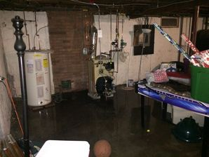 Basement Flood in Stamford, CT - before & after water cleanup and disinfection (1)