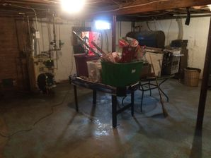 Basement Flood in Stamford, CT - before & after water cleanup and disinfection (2)
